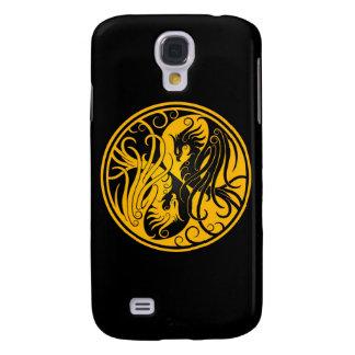 Yin amarillo y negro Yang Phoenix Funda Para Galaxy S4
