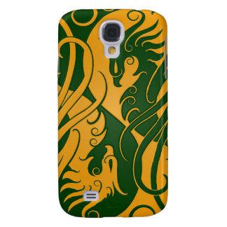 Yin amarillo y verde Yang Phoenix Funda Para Galaxy S4