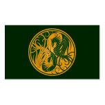 Yin amarillo y verde Yang Phoenix Plantillas De Tarjetas Personales