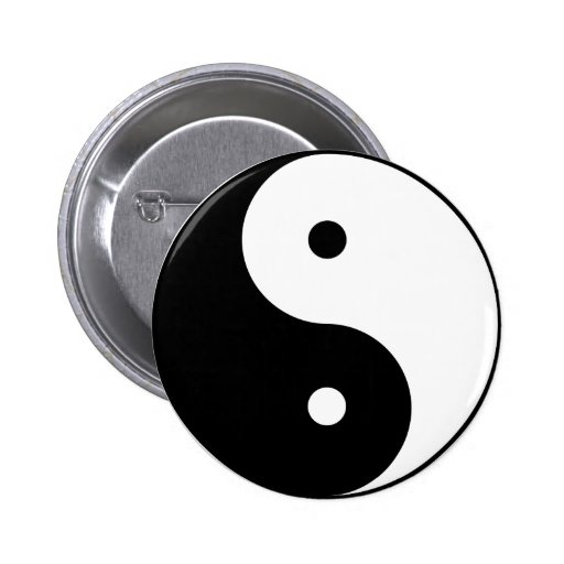 Yin and Yang 2 Inch Round Button