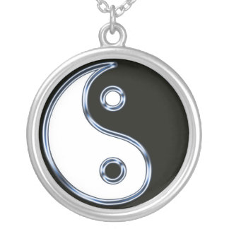 Yin and Yang 2 Round Pendant Necklace
