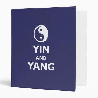 Yin and Yang 3 Ring Binder