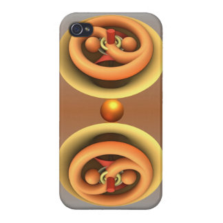 Yin and Yang, artistic abstract iPhone 4 Cases