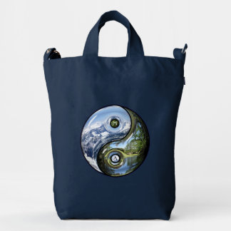 Yin And Yang As Planet Earth With Your Monogram Duck Bag