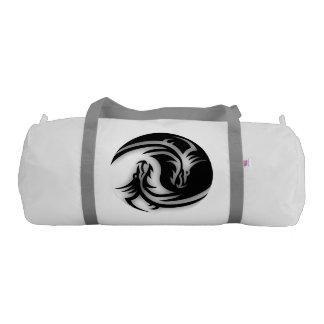 Yin and Yang Asian Dragons Gym Duffel Bag