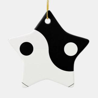yin and yang balance symbol religion tao taoism ceramic ornament