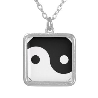 yin and yang balance symbol religion tao taoism silver plated necklace