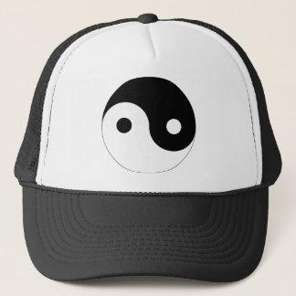 yin and yang balance symbol religion tao taoism trucker hat