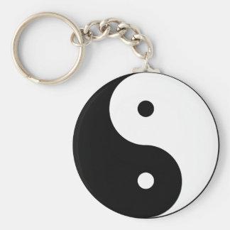 Yin and Yang Basic Round Button Keychain