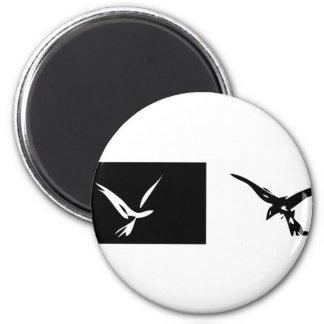 Yin and Yang Bird Magnet