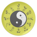 Yin and Yang Chinese zodiac Dinner Plate