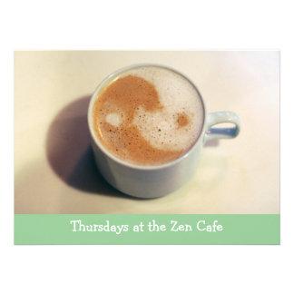 Yin and Yang Coffee Cup Custom Invitation