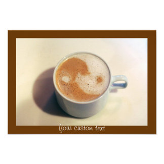Yin and Yang Coffee Cup Personalized Announcements