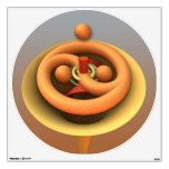 Yin and Yang, cool abstract 3-d Wall Decal