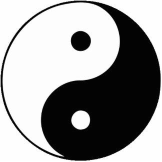 Yin and Yang Cutout