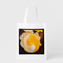 Yin and Yang Egg AND Vegetables Reusable Grocery Bag