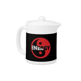 Yin and yang energy concept. teapot