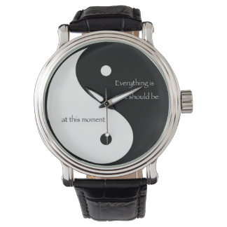 """Yin and Yang """"Everything is as it should be..."""" Wrist Watch"""