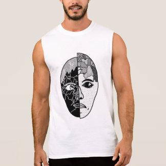 Yin and Yang Face Sleeveless Shirt