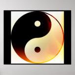 Yin and Yang Flame Poster