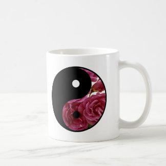 Yin And Yang Floral Coffee Mug