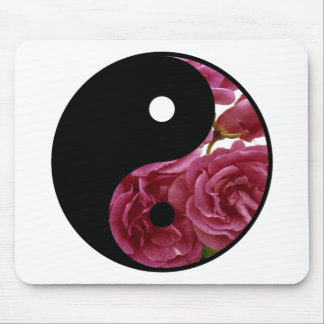 Yin And Yang Floral Mouse Pad