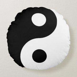 Yin and Yang Fluffy Round Pillow