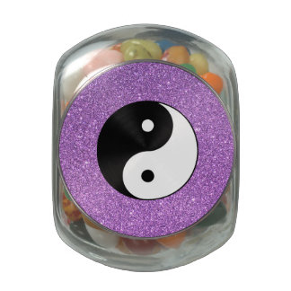 Yin and Yang Glass Candy Jars