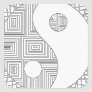 Yin and Yang I Square Sticker