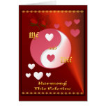 Yin and Yang in Valentine Hot Pink- Card