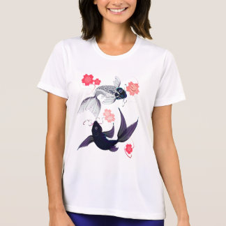 Yin and Yang Koi and Cherry Blossoms Shirts