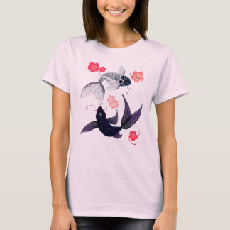 Yin and Yang Koi and Cherry Blossoms T-Shirts