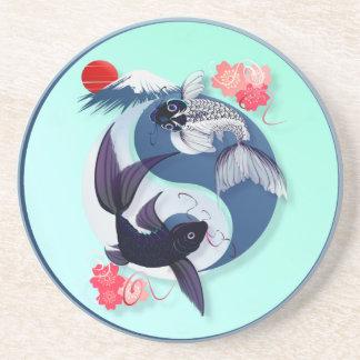 Yin and Yang Koi Coasters