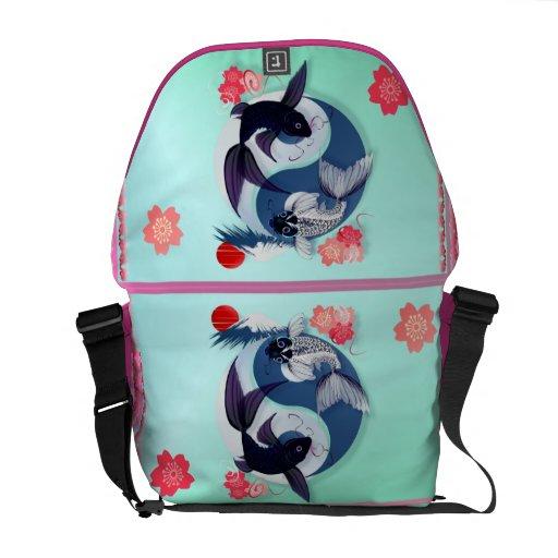 Yin and Yang Koi Courier Bag