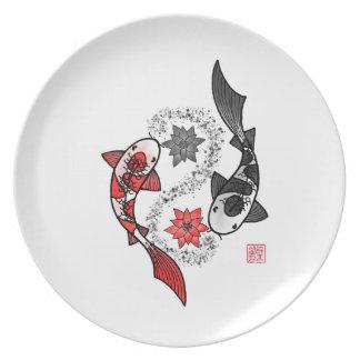 Yin and Yang Koi Fish Plate