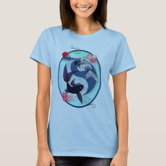 Yin and Yang Koi Oval Shirts