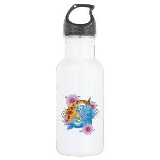 Yin and Yang Koi 18oz Water Bottle