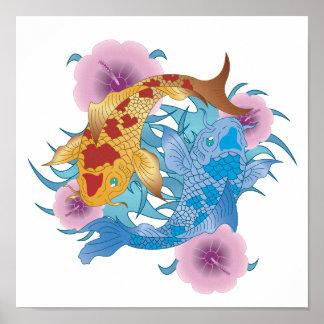Yin and Yang Koi Poster