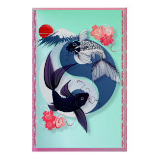 Yin and Yang Koi Posters