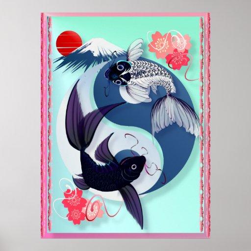 Yin and Yang Koi Posters