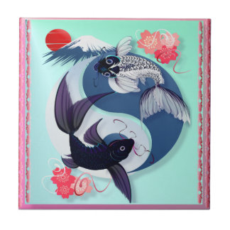 Yin and Yang Koi Tiles