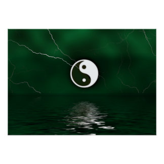 Yin and Yang Levitate Poster