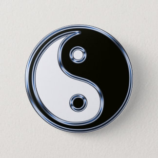 Yin and Yang Medallion Pinback Button