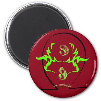 Yin and Yang Melting Fire CricketDiane Refrigerator Magnets