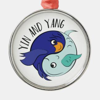 Yin And Yang Metal Ornament