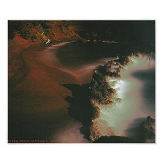 Yin and Yang of Red Sand Beach Maui Photo Print