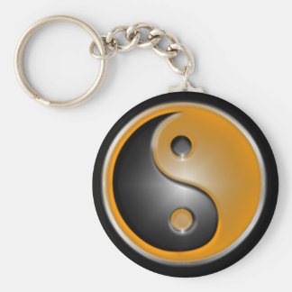 yin and yang orange keychain
