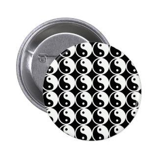 Yin and Yang Pattern Pinback Button