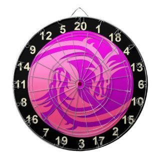 Yin and Yang purple and pink dragon dart board