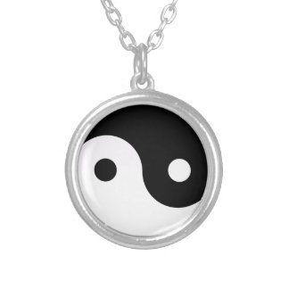 Yin and Yang Round Pendant Necklace